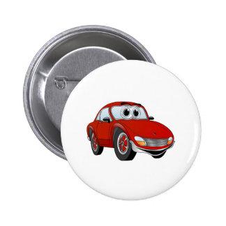 Roter Sport-Auto-Cartoon Buttons