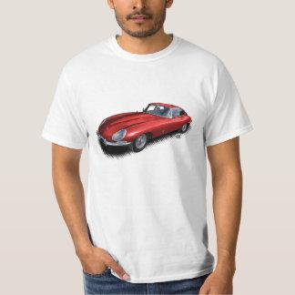 Roter Sport-Auto-T - Shirt des Jaguar-XKE Vintager