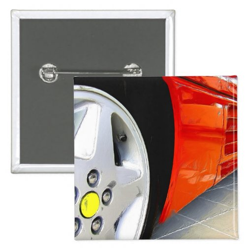 Roter Sport-Autoknopf Button
