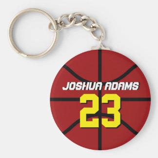 Roter Sport-Team-Athleten-Basketball Keychain Schlüsselanhänger