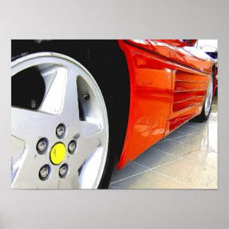 Roter Sportauto-Leinwanddruck Plakatdruck