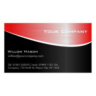 Roter Stahleffekt-berufliche Geschäfts-Karte Visitenkarten