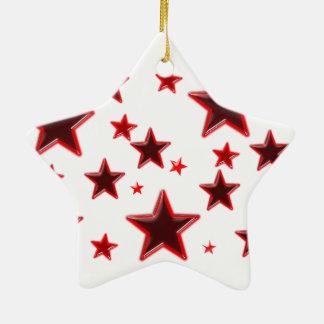 Roter Stern Keramik Stern-Ornament