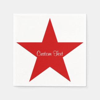 Roter Stern mit kundenspezifischem Text Serviette
