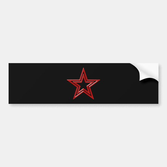 roter Stern Pentagramm red star pentagram Autoaufkleber