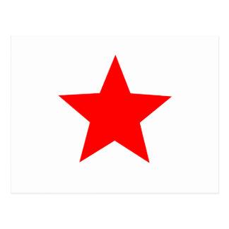 roter Stern Postkarte