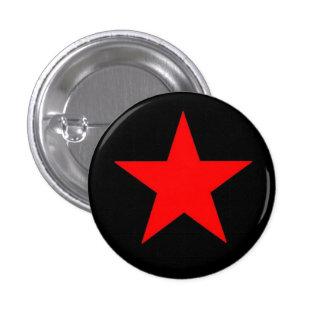Roter Stern Runder Button 2,5 Cm