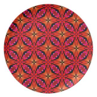 Roter Sternexplosion-Entwurf Teller