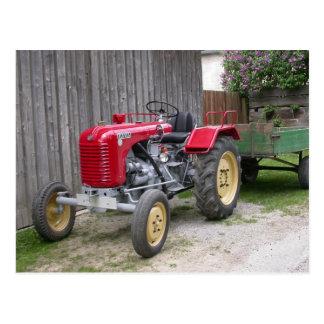 Roter Steyr Traktor T84 Postkarte