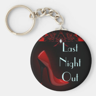 roter Stilett-Brautparty-Junggeselinnen-Abschied Standard Runder Schlüsselanhänger