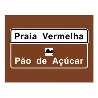 Roter Strand, Verkehrszeichen Rio de Janeiro, Postkarte