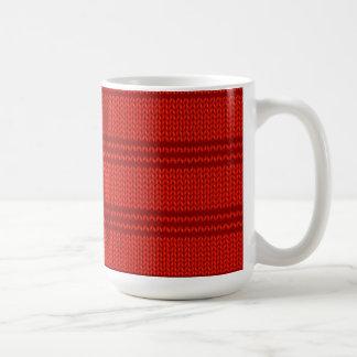Roter Strick Kaffeetasse