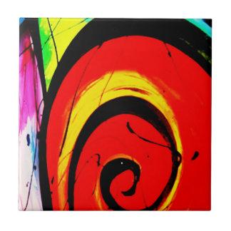 Roter Strudel-abstrakte Kunst Fliese