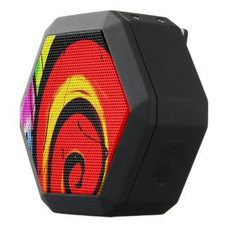 Roter Strudel-abstrakte Kunst Schwarze Bluetooth Lautsprecher