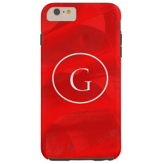 Roter Strudelmonogramm iPhone Kasten Tough iPhone 6 Plus Hülle