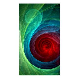 Roter Sturm-abstrakte Kunst-Geschäfts-Karte Visitenkarten