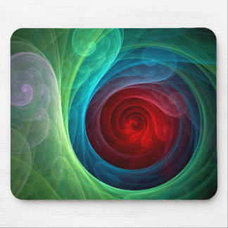 Roter Sturm-abstrakte Kunst Mousepad