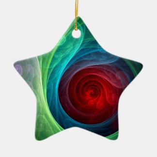 Roter Sturm-abstrakte Kunst-Stern-Verzierung Keramik Stern-Ornament
