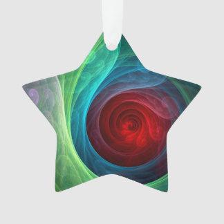 Roter Sturm-abstrakter Kunst-Acryl-Stern Ornament