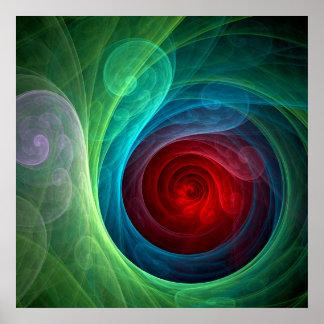 Roter Sturm-abstrakter Kunst-Druck Poster