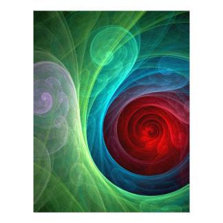 Roter Sturm-abstrakter Kunst-Flyer 21,6 X 27,9 Cm Flyer