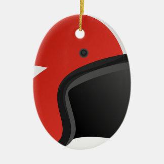 Roter Sturzhelm Keramik Ornament