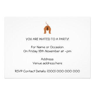 Roter Summer-Affe-Cartoon Personalisierte Einladungen