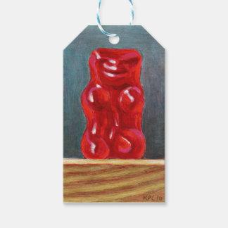 Roter Süßigkeits-Bär Geschenkanhänger