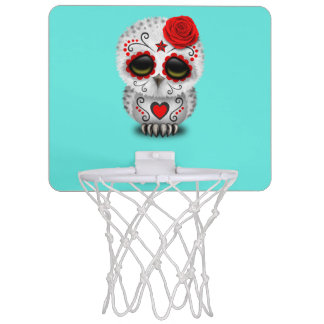 Roter Tag der toten Baby-Eule Mini Basketball Ring