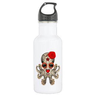 Roter Tag der toten Baby-Krake Edelstahlflasche
