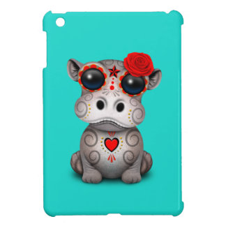 Roter Tag des toten Baby-Flusspferds iPad Mini Hülle