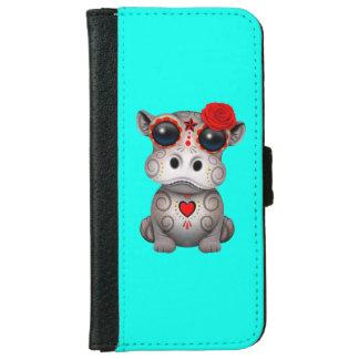 Roter Tag des toten Baby-Flusspferds iPhone 6/6s Geldbeutel Hülle