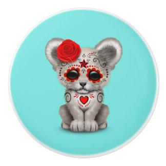 Roter Tag des toten Löwes CUB Keramikknauf