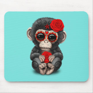 Roter Tag des toten Schimpansen Mauspads