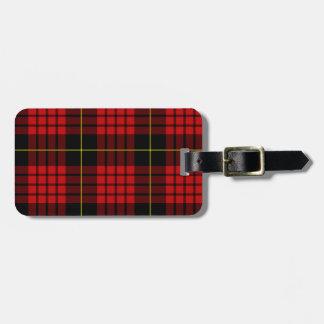Roter Tartan-Gepäckanhänger mit Lederband Gepäckanhänger