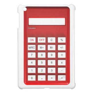 Roter Taschenrechnertaschenrechner iPad Mini Hülle