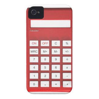 Roter Taschenrechnertaschenrechner iPhone 4 Hülle