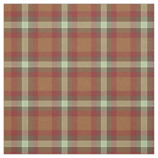 Roter Taupe-quadriert beige dunkles BrownTartan Stoff