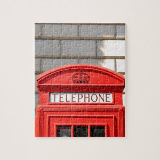 Roter Telefonstiefel in London Puzzle