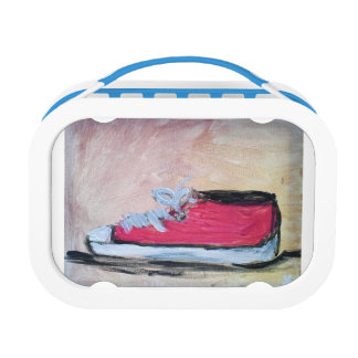 Roter Tennis-Schuh Brotdose