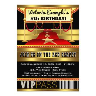 Roter Teppich Party Einladungen Hollywood