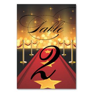 Roter Teppichhollywood-Bonbon 16 Tischnummer