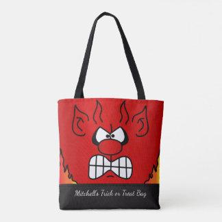 Roter Teufel-Gesicht Tasche