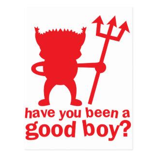 ROTER TEUFEL haben Sie gewesen ein guter Junge? Postkarte