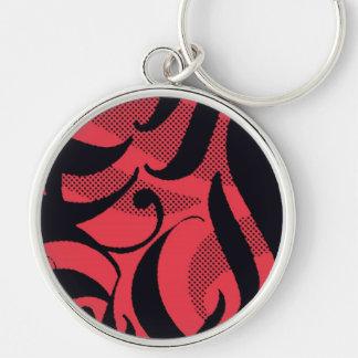 Roter Tiger, roter schwarzer Entwurf, Schablone Schlüsselband