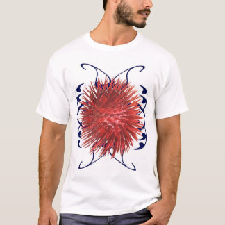 Roter Tintenfisch T-Shirt