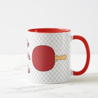 Roter Tischtennis-Schläger Tasse