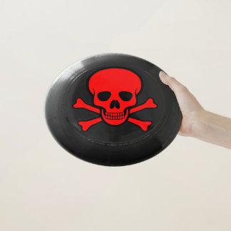 Roter Totenkopf mit gekreuzter Knochen Wham-O Frisbee