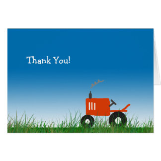 Roter Traktor danken Ihnen Anmerkungs-Karte Karte