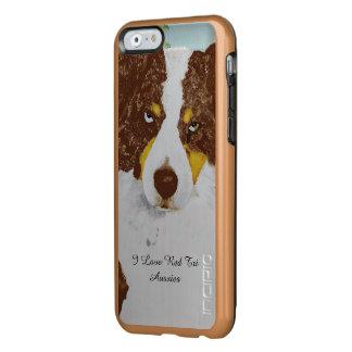 Roter Tri australischer Schäfer Incipio Feather® Shine iPhone 6 Hülle